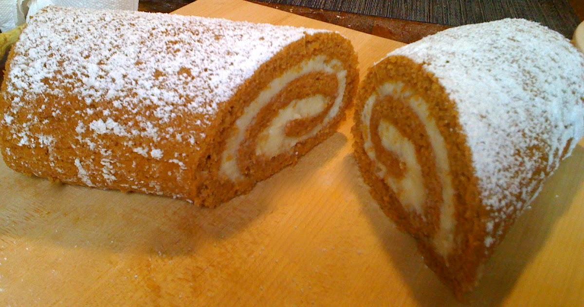 Blonde In The Kitchen Pumpkin Roulade With Ginger Filling