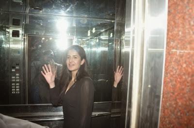 Ranbir with girlfriend Katrina Kaif at Wolf of Wall Street screening