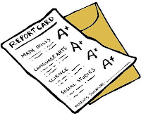 report card and envelope
