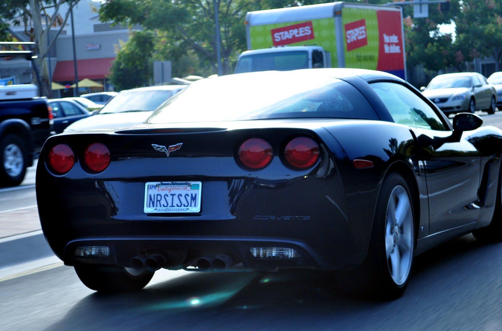 Charming Is It Ironic That A Corvette Has This License Plate?