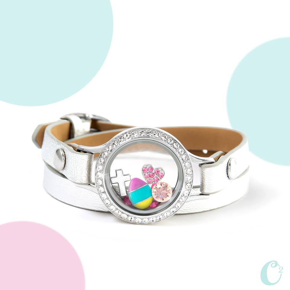 Origami Owl Easter Charms Leather Wrap Bracelet available at StoriedCharms.com