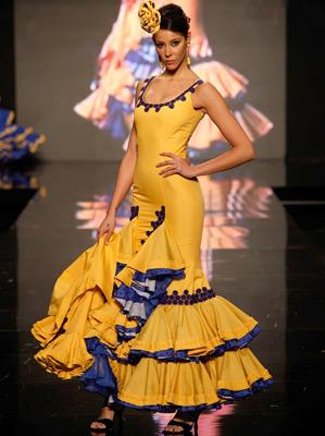 vestidos de flamenca con tirantes