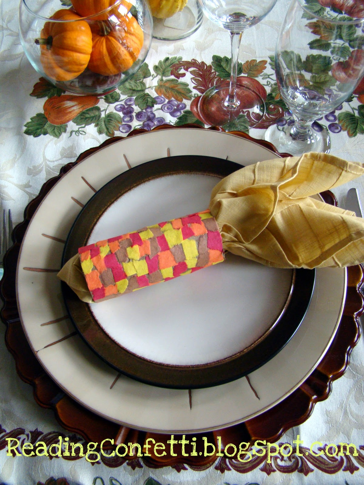 Thanksgiving Indian Corn Napkin Ring Craft