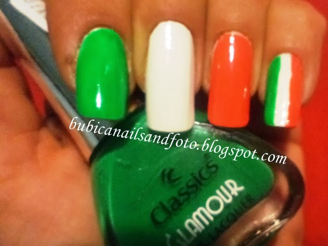 Simple Nails 611 Italian Flag Nails Italia Nails Italian Nail Art