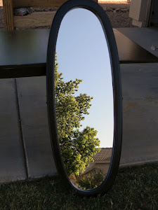 Black Oval Wall Mirror  *SOLD*
