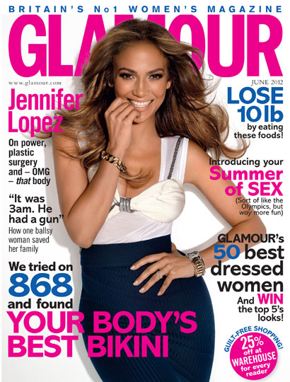 Jennifer Lopez Covers Glamour Magazine June 2012 Issue Enjoying Wonderful World