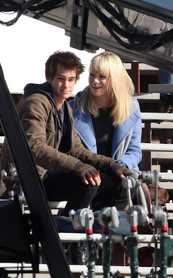 Emma Stone as Gwen Stacy, & Andrew Garfield as Peter Parker in the new Spider-Man movie