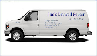 Call Jim 919-542-5336 for fast, friendly, professional drywall repair service in Durham, NC. Estimates are always free and NO JOB IS TO SMALL.