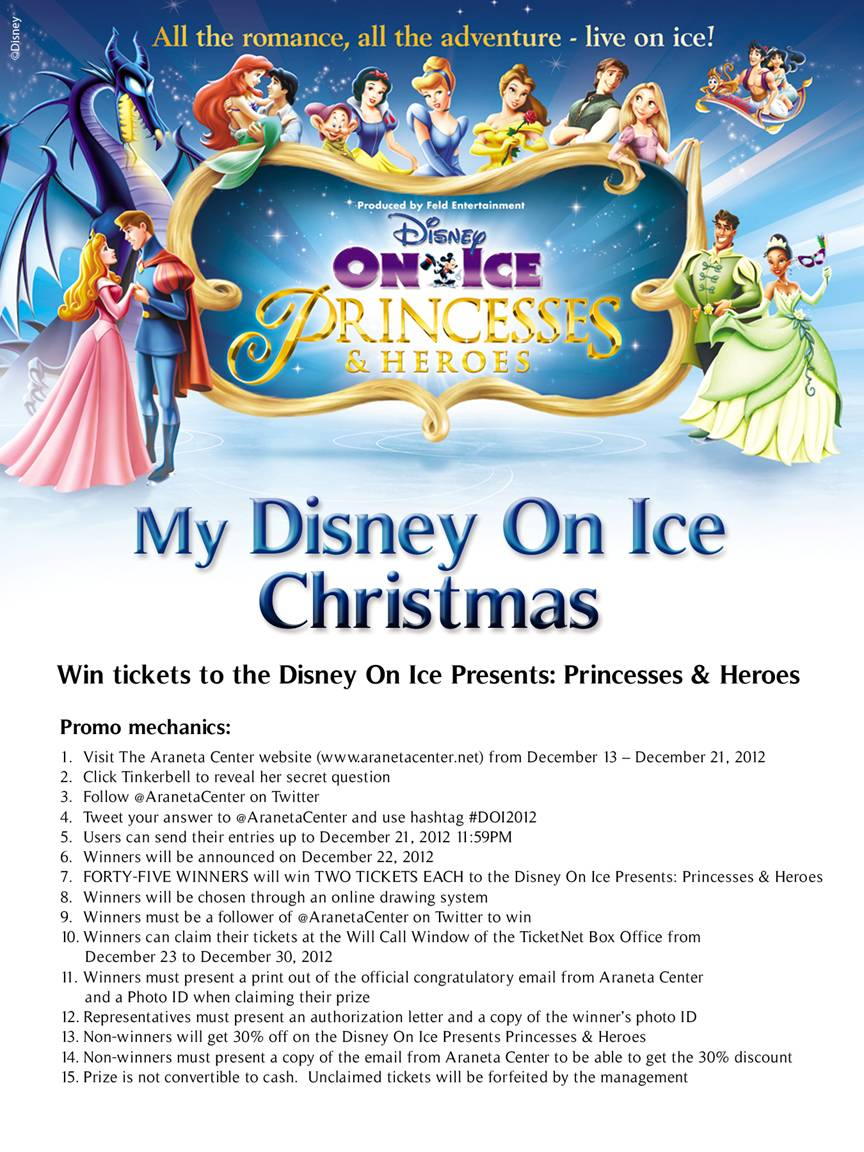 My Disney On Ice Christmas December 25 to January 3 at the Smart ...