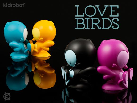 Lovebirds Teal Black Purple Orange Editions