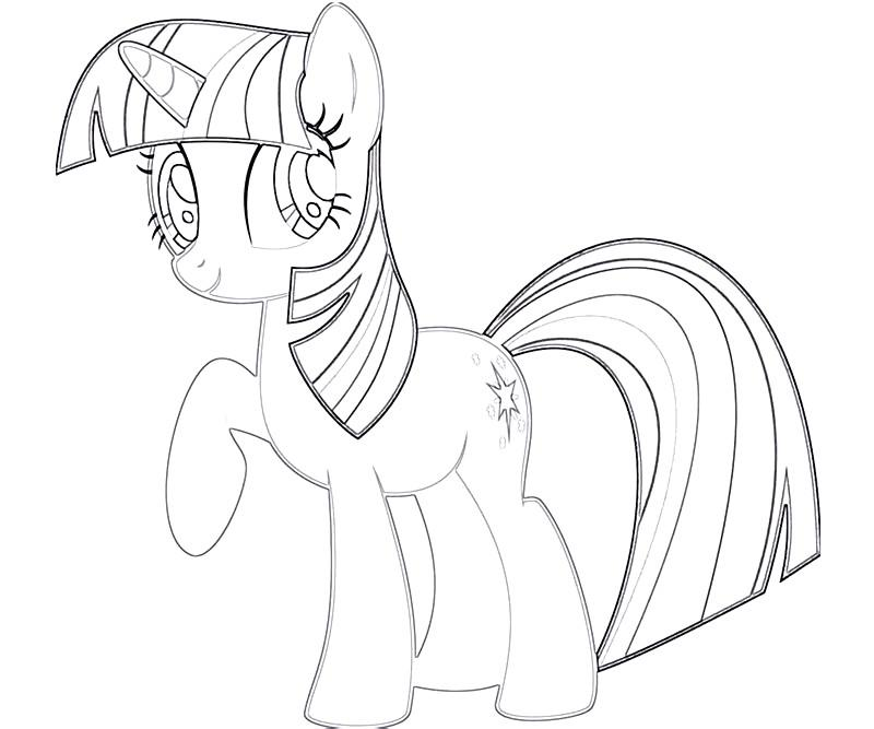 Mlp twilight coloring pages coloring pages for Twilight sparkle coloring page