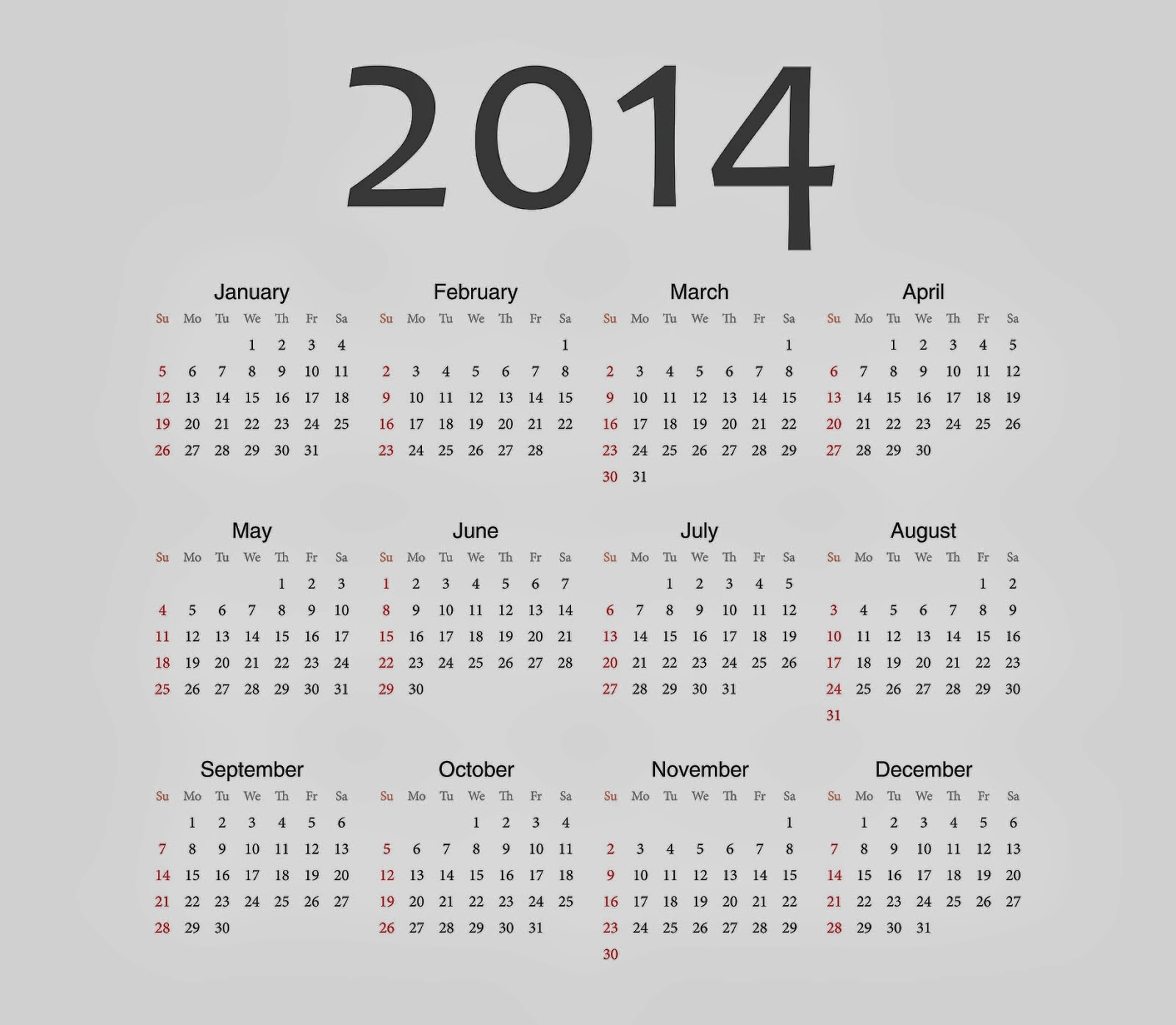 Year Calendar Wallpaper : New year calendar for desktop