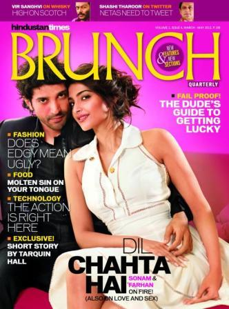 Sonam Kapoor & Farhan Akhtar on the cover of HT Brunch - Sonam Kapoor & Farhan Akhtar on the cover of HT Brunch