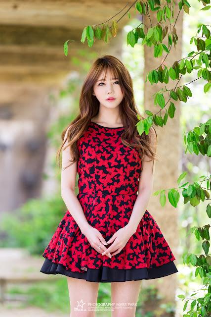 2 Han Ga Eun - Lovely Ga Eun In Outdoors Photo Shoot - very cute asian girl-girlcute4u.blogspot.com