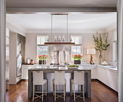 White and Silver Architectural Digest Kitchen