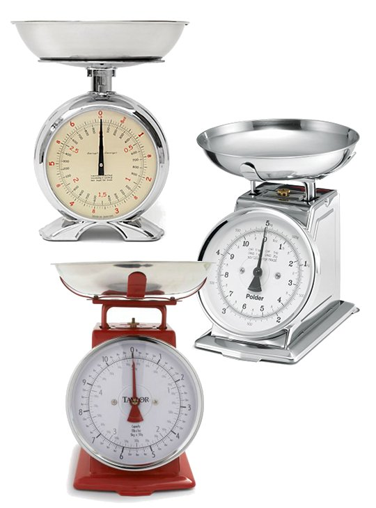 Options On Vintage Style Kitchen Scales