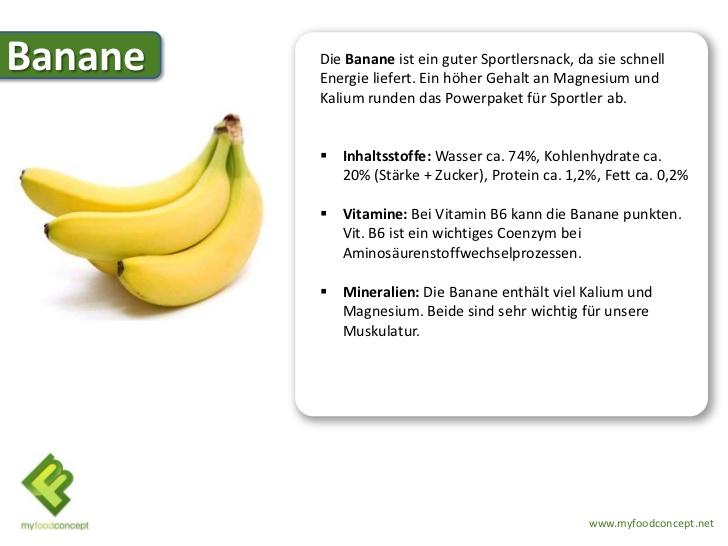 nat rlich gesund banane inhaltsstoffe