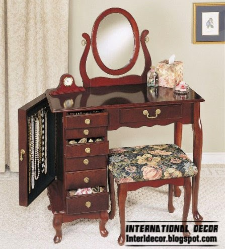 unique dressing table design with jewelry storage, buy dressing table