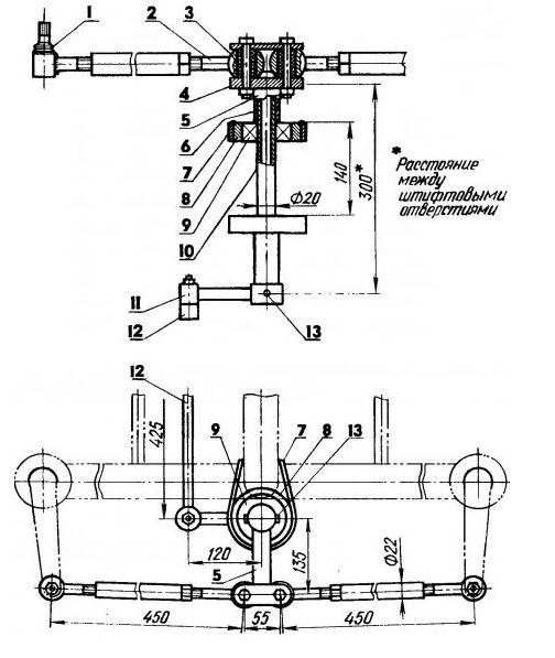 Как сделать с мотоблока трактор своими руками чертежи 71
