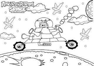 Angry Birds Space Coloring Pages Pictures to Pin on Pinterest