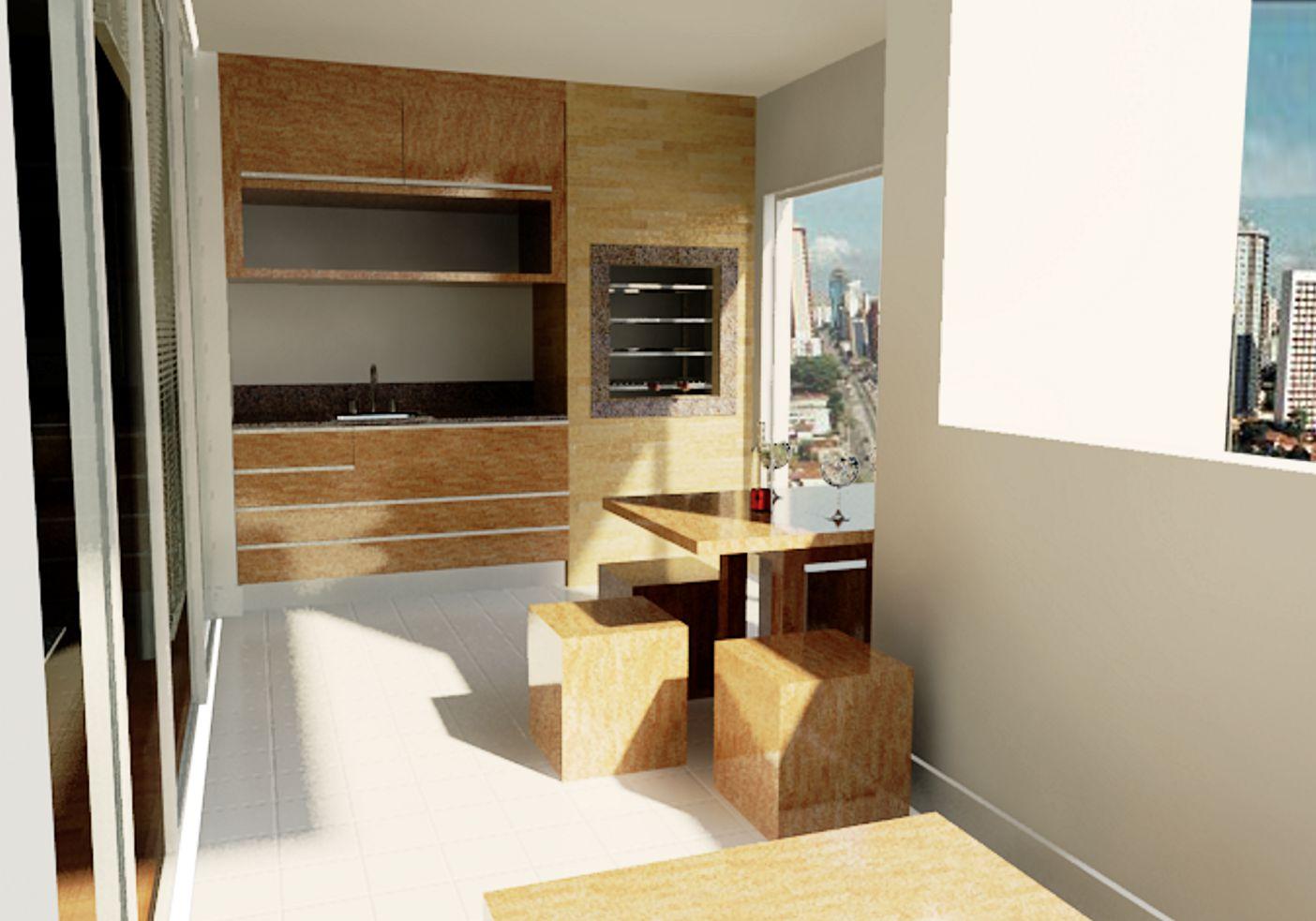 Luiz Henrique Arquitetura: Apartamento arejado com reaproveitamento de  #6B4825 1404 983