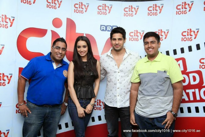 Shraddha and Siddarth at City1016, UAE's No.1 Bollywood Radio Station