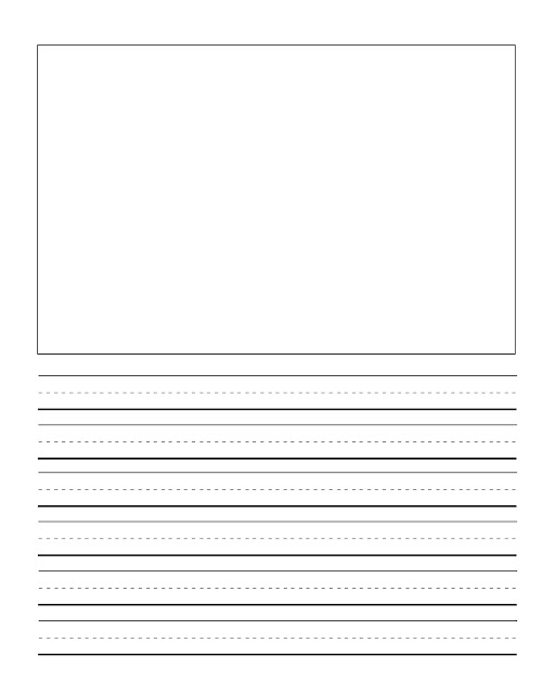 2Nd grade writing paper with picture box