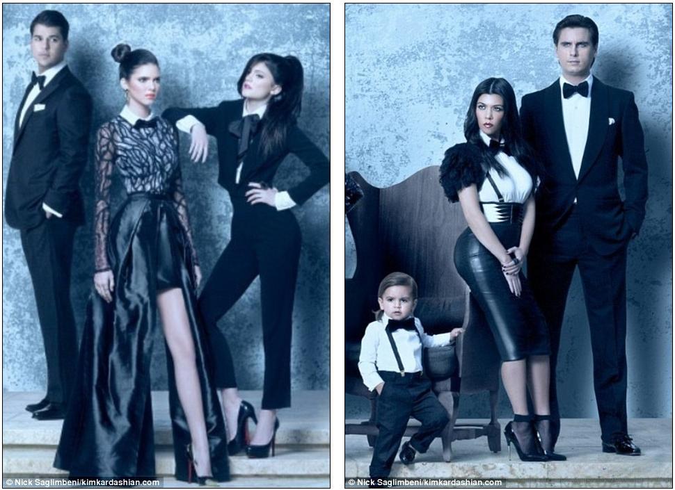 Suits you, madam! Kim Kardashian wears a sleek tuxedo for her ...