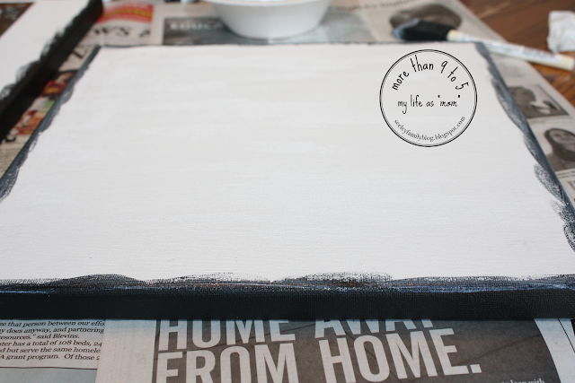 """DIY Canvas...for under $5!   more than 9 to 5: my life as """"mom"""""""
