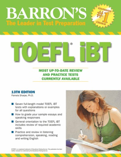 Barrons TOEFL iBT 2011 13th Edition CD-Rom (433MB) with 7 tests
