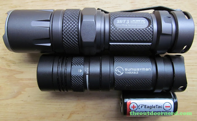 Nitecore SRT3 Defender And Sunwayman V11R Without Extenders