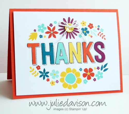 Stampin' Up! This Day Project Life Card + For Being You stamp set for Sale-a-bration 2015 #saleabration #stampinup www.juliedavison.com