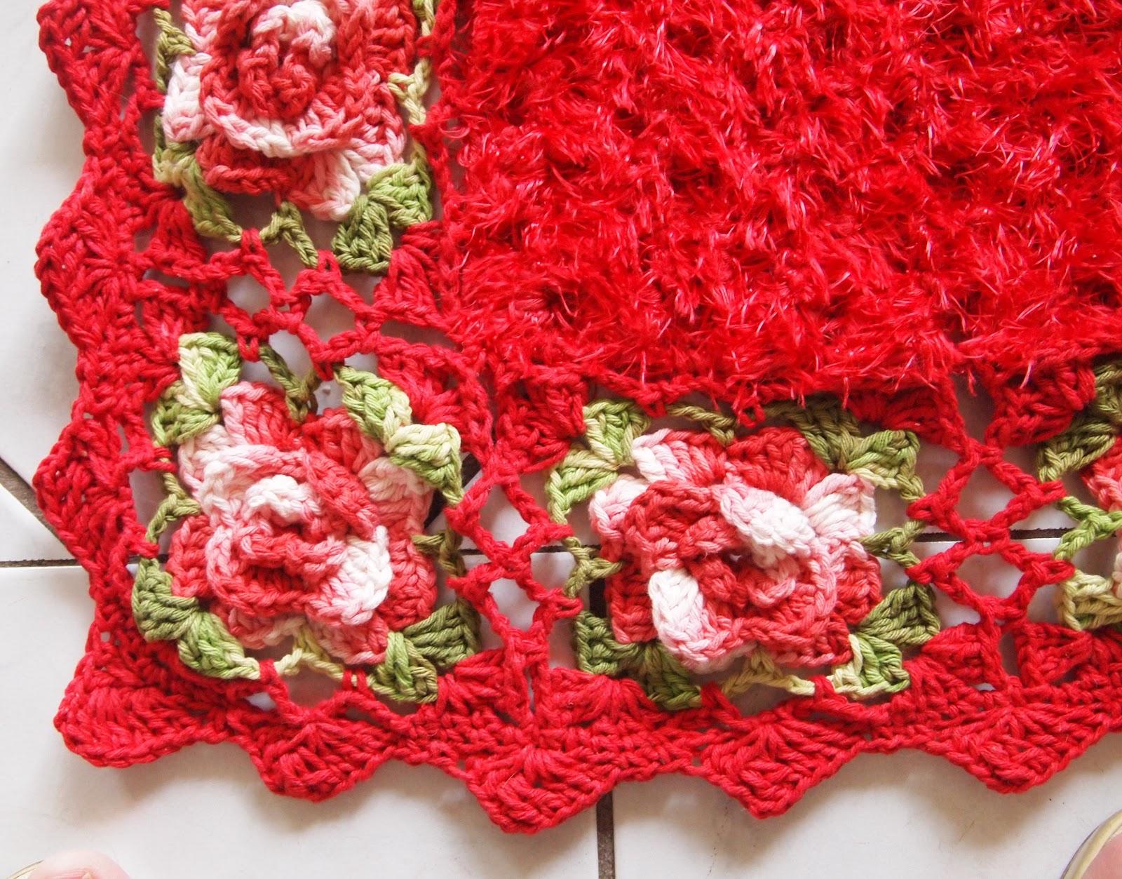os croches da elsa dicas do tapete   pelinho e rosas