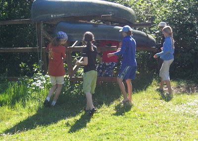 Getting the canoe down www.drjeanlayton.com