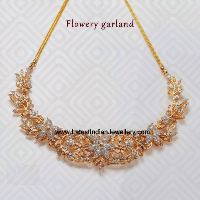 Diamond Floral Garland