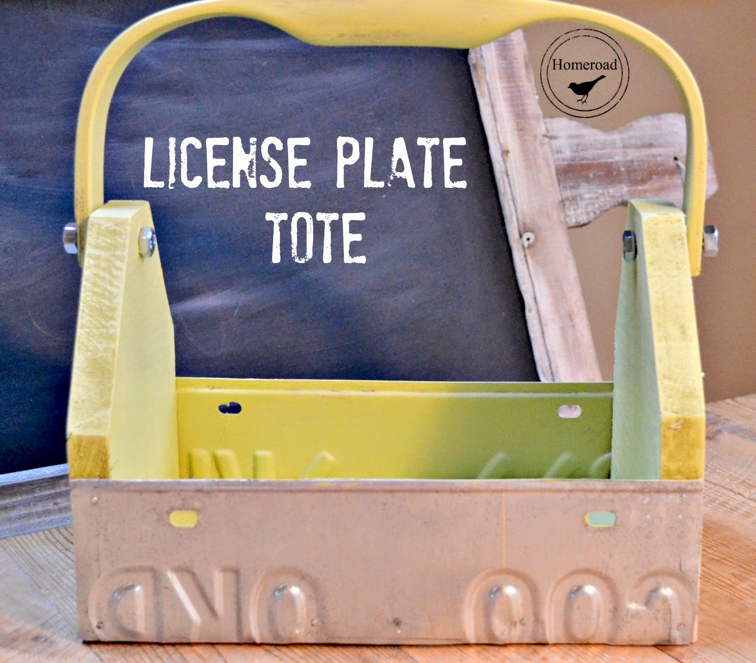 License Plate Garden Tool Box www.homeroad.net