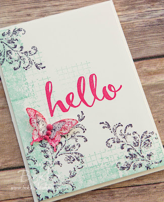 Timeless Textures Butterfly Hello Card - Get the details here