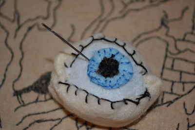 eyeball pincushion