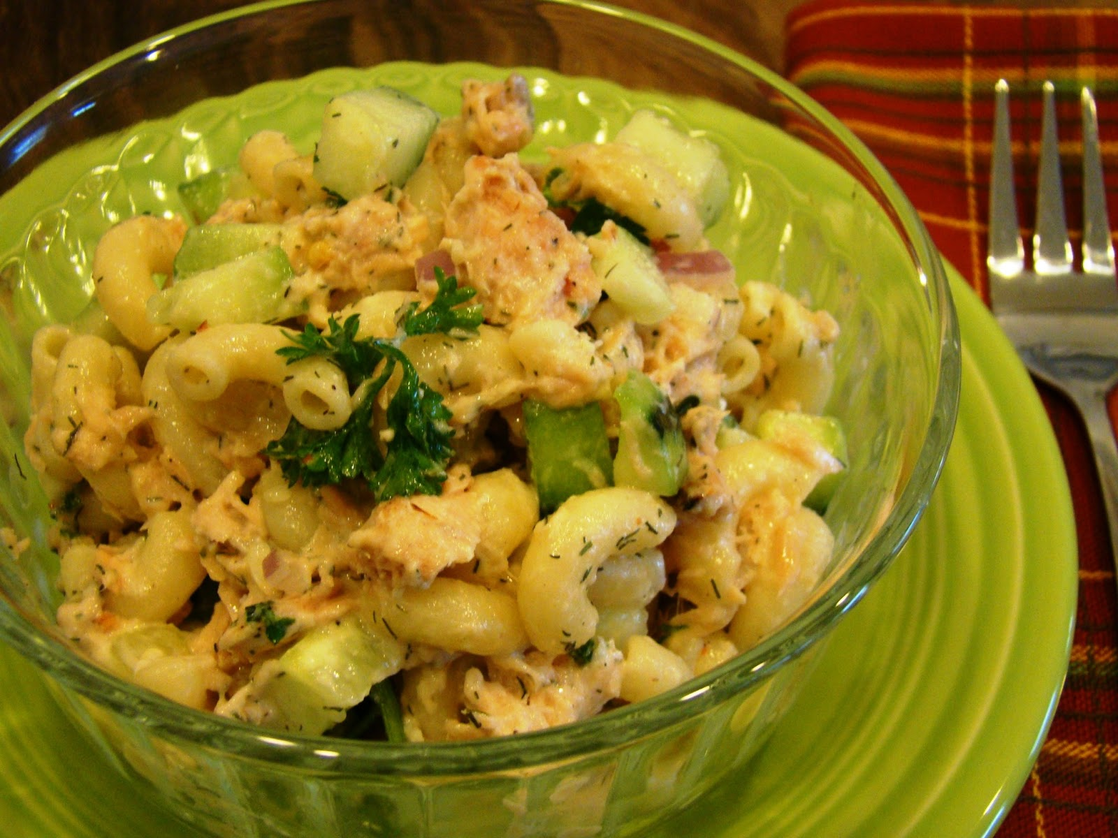 Soup Spice Everything Nice: Salmon Macaroni Salad with Cucumbers