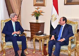 الرئيس يستقبل وزير الخارجية الأمريكي جون كيري