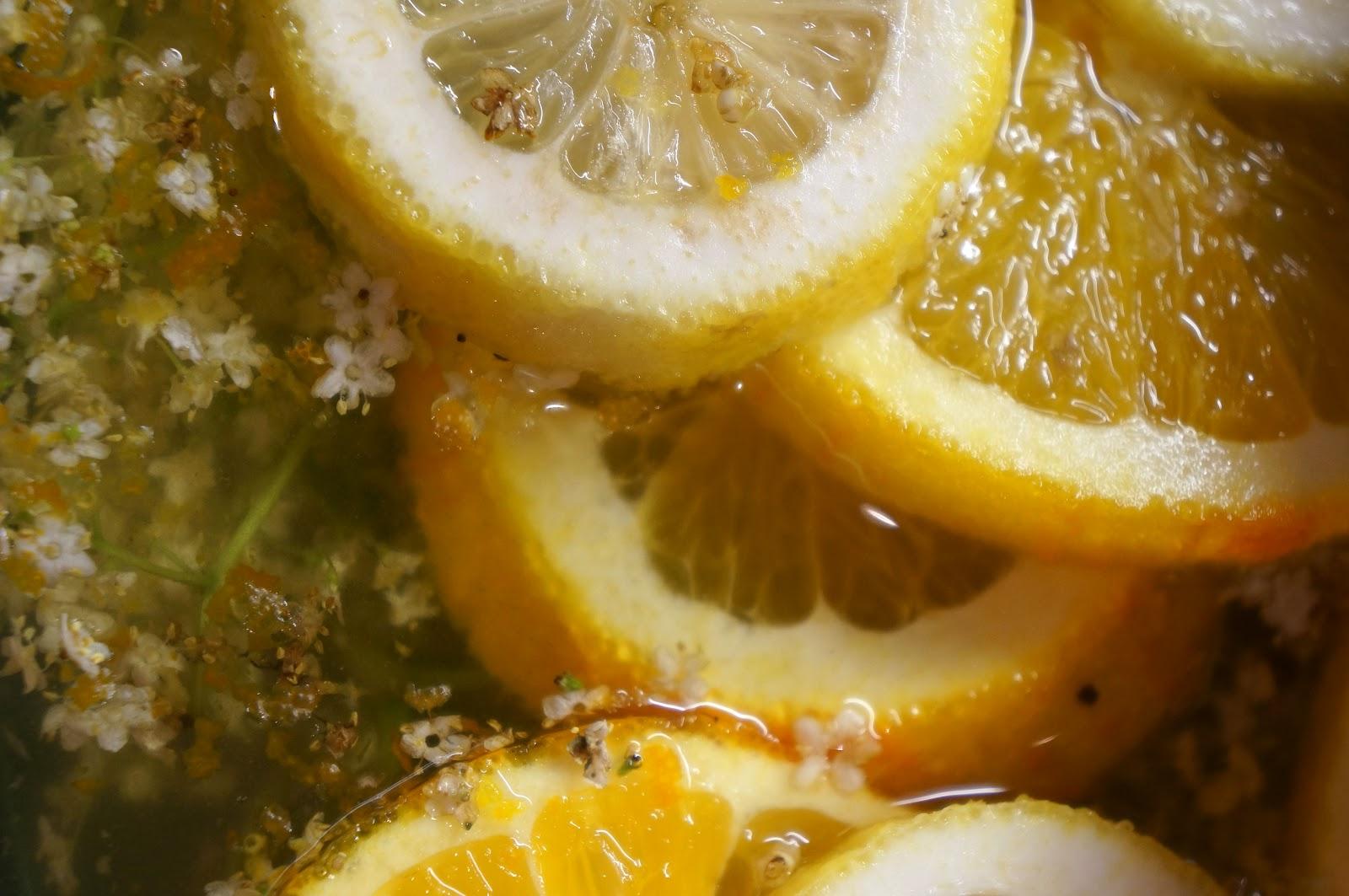 ... unwaxed lemon for elderflower cordial elderflower cordial preparation