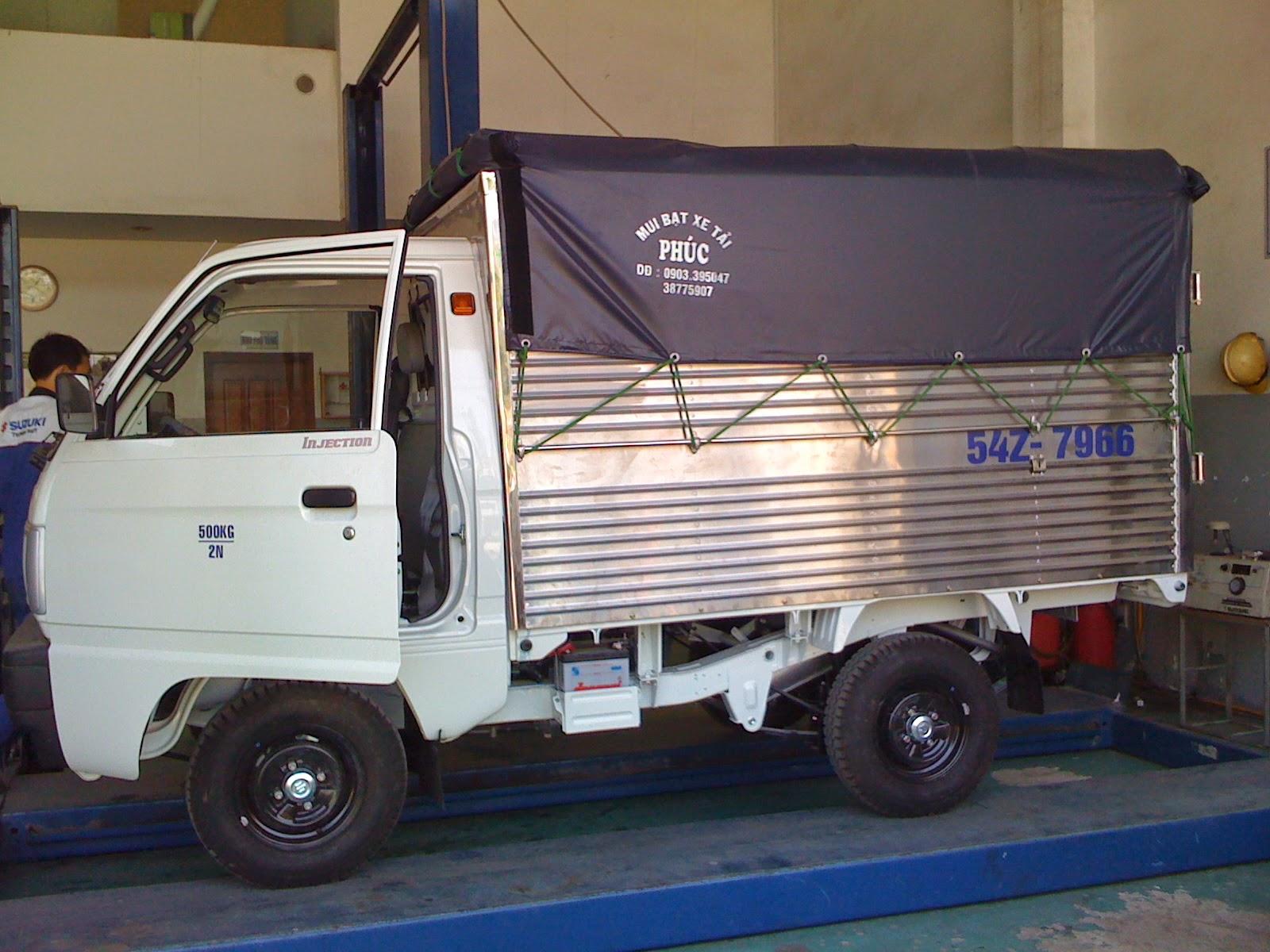 xe tải suzuki mui bạt 550kg