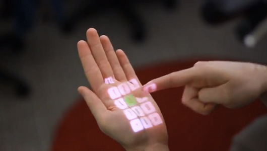 Hand screen Kinect-like technology