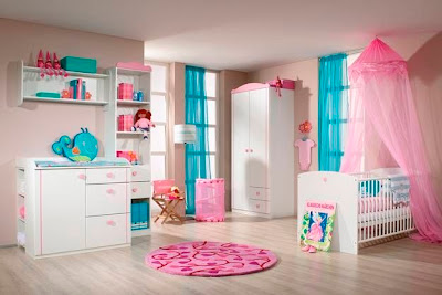 habitaci n de beb rosa y turquesa dormitorios con estilo