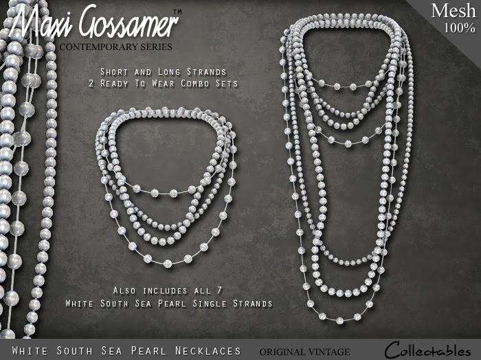 maxi gossamer multistrand pearl necklaces