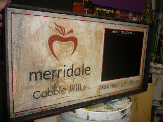 Merridale Cider cobble Hill traditional signage dobell designs hand painted signage North America
