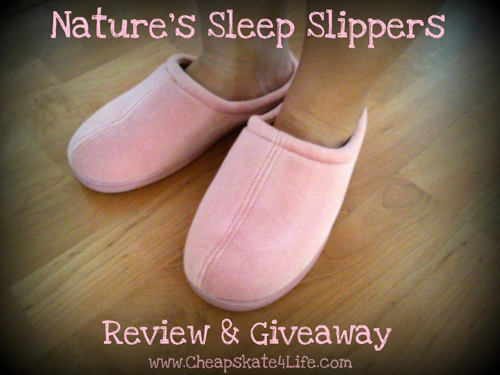 Nature's Sleep Memory Foam Slippers Review + Giveaway