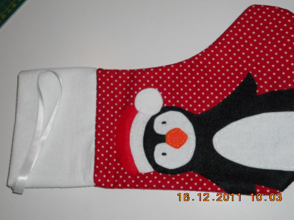 Patch patch patchwork un calcet n de navidad - Calcetin de navidad ...