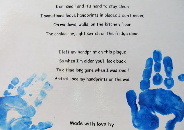 handprint poem for Mother's Day, mother's day card for preschool, DIY Mother's Day craft