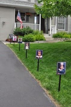 festa diploma laurea decorazioni con foto